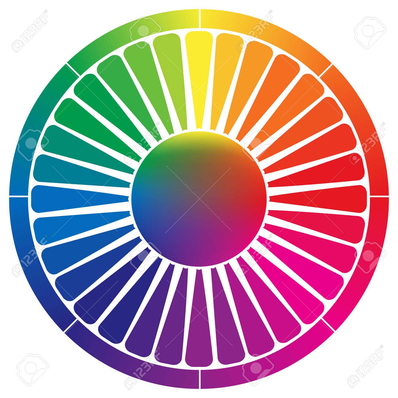 Paleta De Colores Abstracto Contra El Fondo Blanco, Ilustración ...