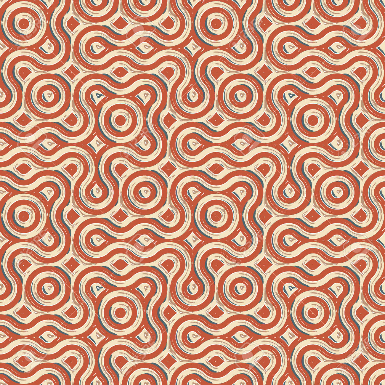 pop art pattern, abstract seamless texture; vector art illustration Stock Vector - 15683541
