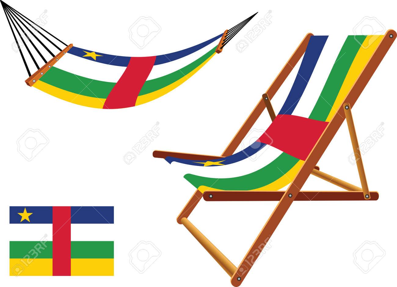 Hamac Et Longue République Chaise D'art Un Une BlancIllustration Vecteur Centrafricaine Abstrait Fond XN8OkwP0n
