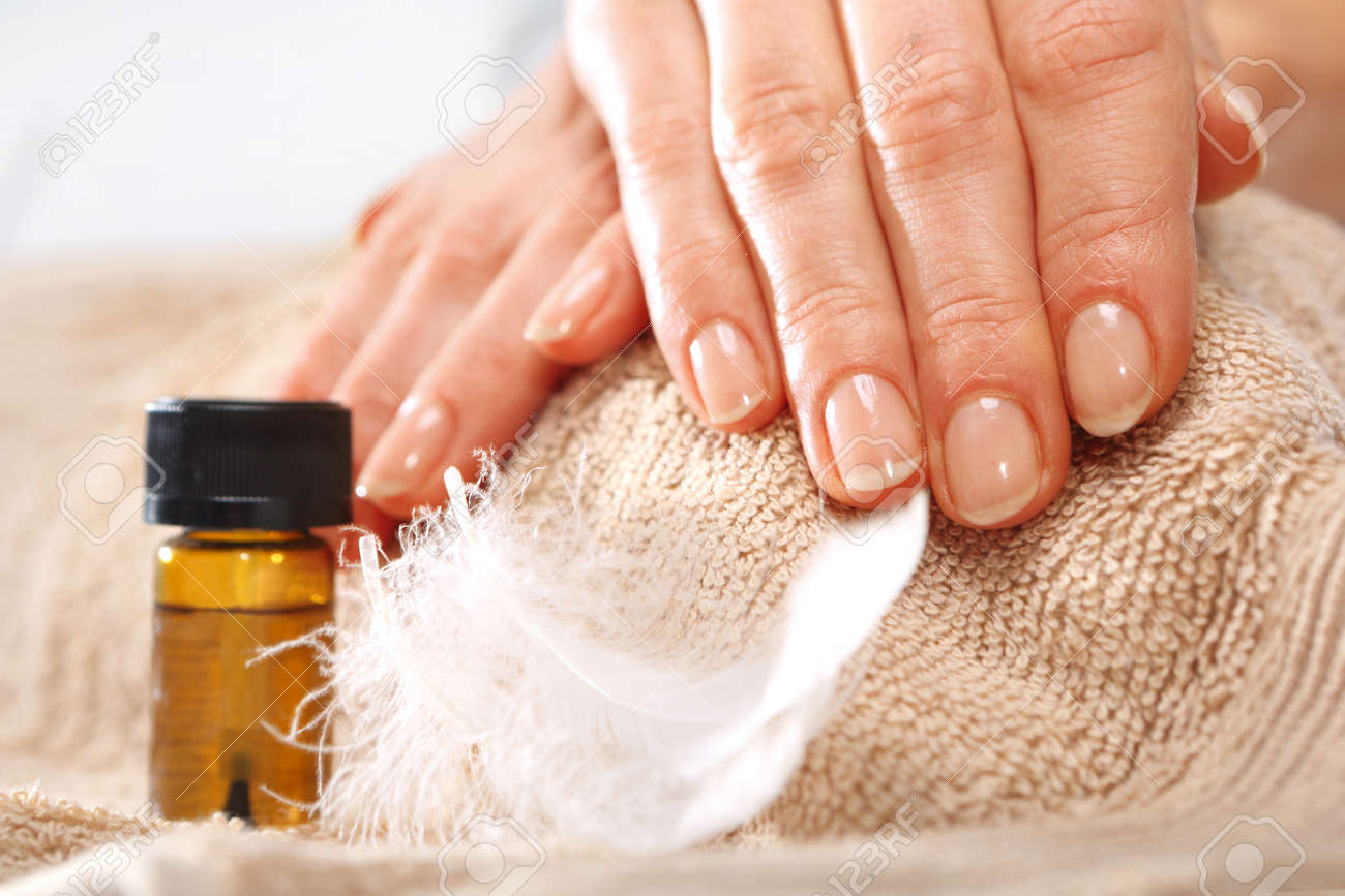 Healthy, Well Groomed Nails, Natural Beauty Stock Photo, Picture And ...