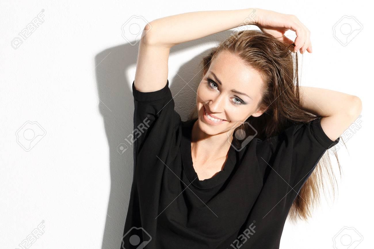 Femmes Naturelles Photos la beauté naturelle des femmes. portrait de sourire belles femmes