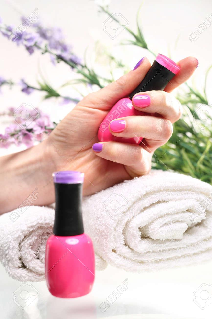 Rosa Pastel De Uñas Esmalte De Uñas Manicura De Color Cosméticos De Color De Pintura De Laca Uñas