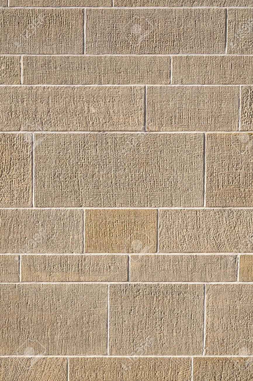 Patron De Color Arena De Una Pared Exterior De Piedras Rectangulares - Piedra-pared-exterior
