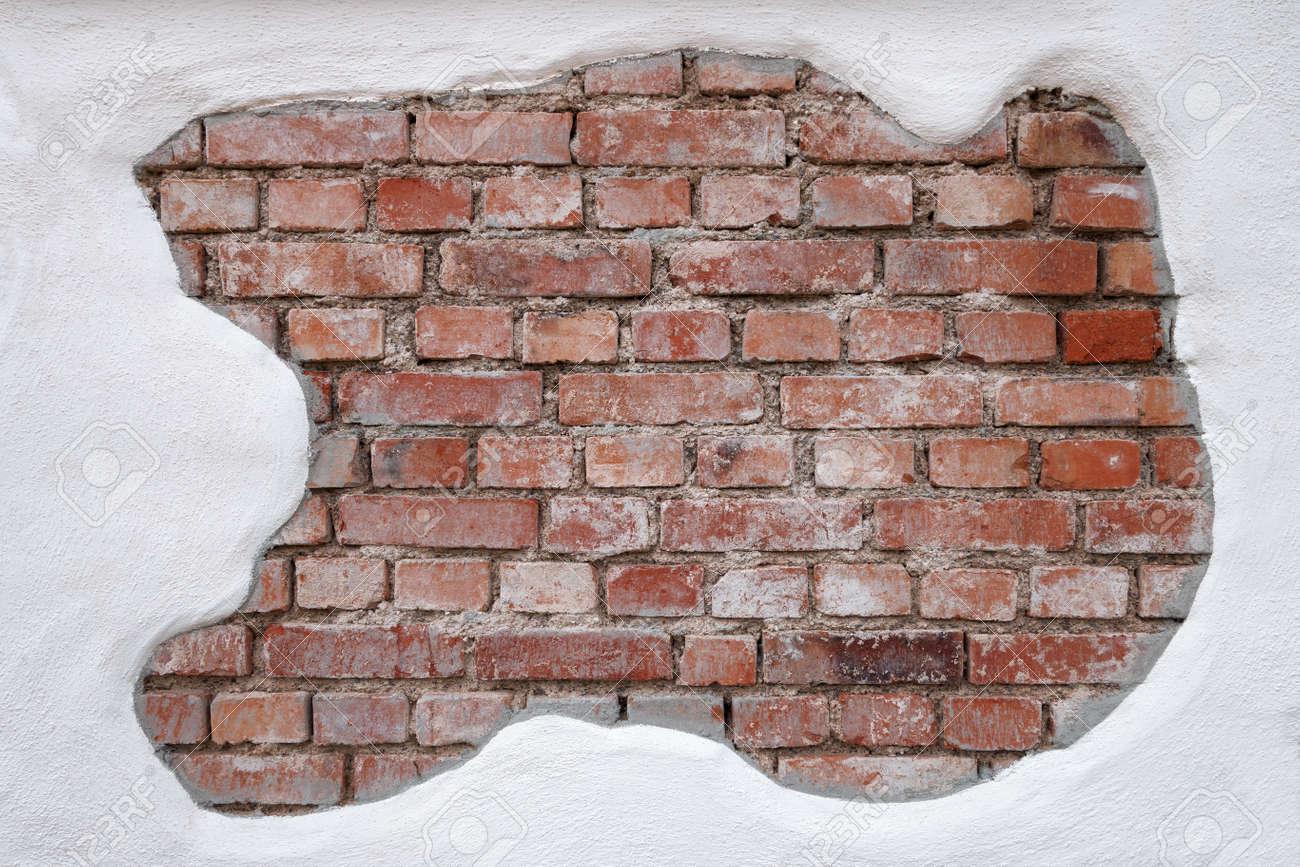 Immagini Stock Vecchio Fortemente Sporchi Muro Di Mattoni Rossi