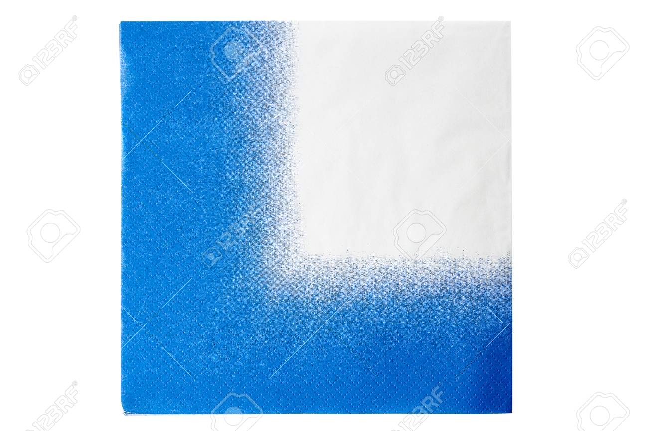 Blue White Paper Napkin Isolated Stock Photo Picture And Royalty Free Image Image 73379417