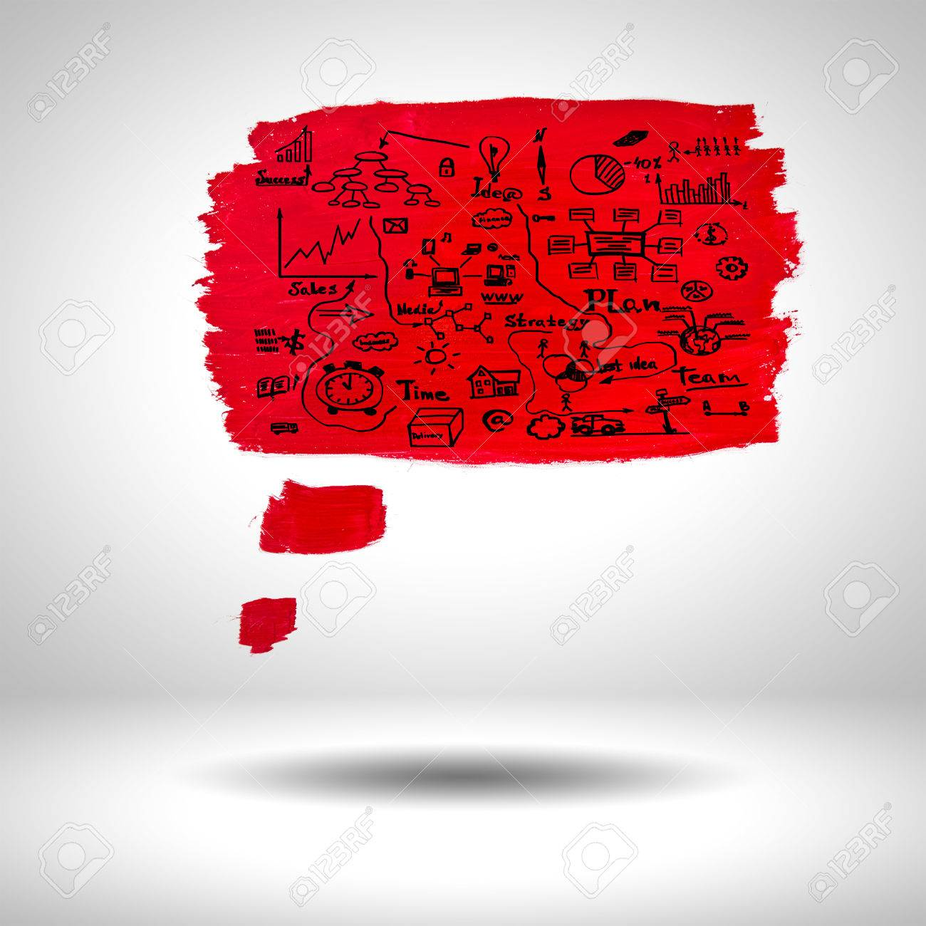 surface blank red paint with sketches on grey background stock photo 24199365 - Free Sketches To Paint