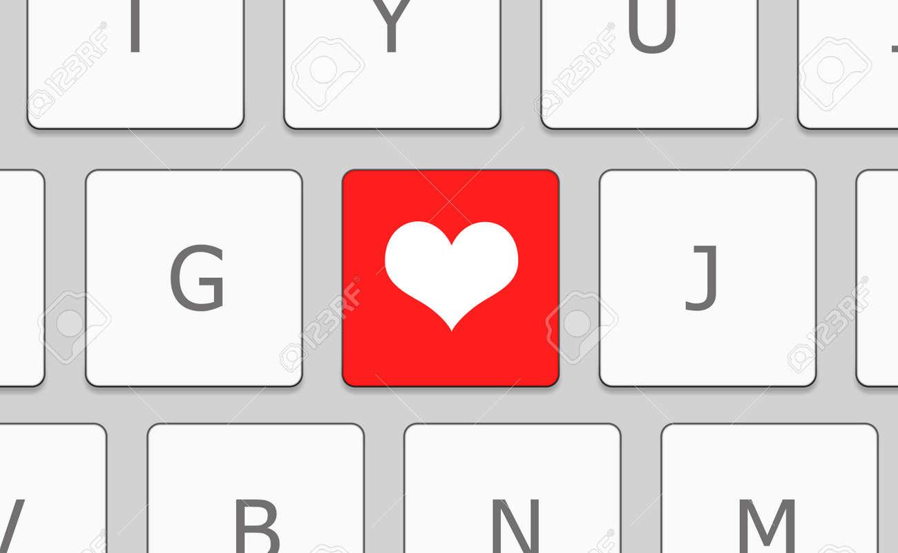 Weiß tastatur herz symbol Durchsichtiges Herz