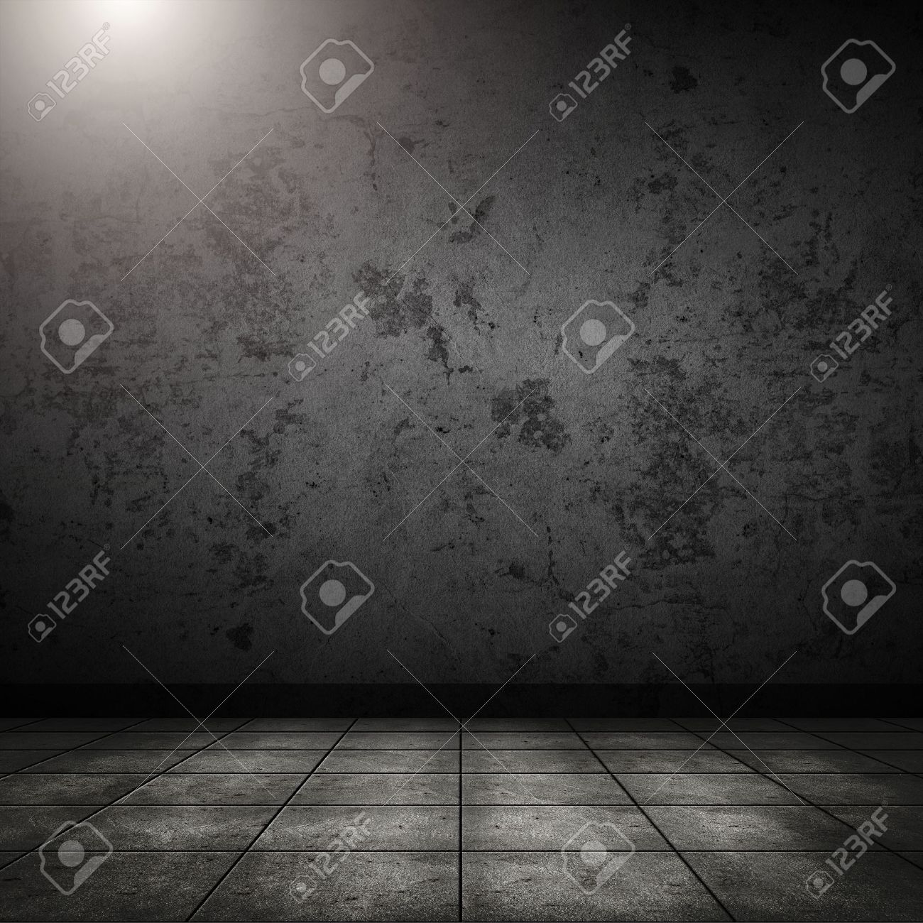 Dark room with tile floor and brick wall background stock photo dark room with tile floor and brick wall background stock photo 25953726 dailygadgetfo Choice Image