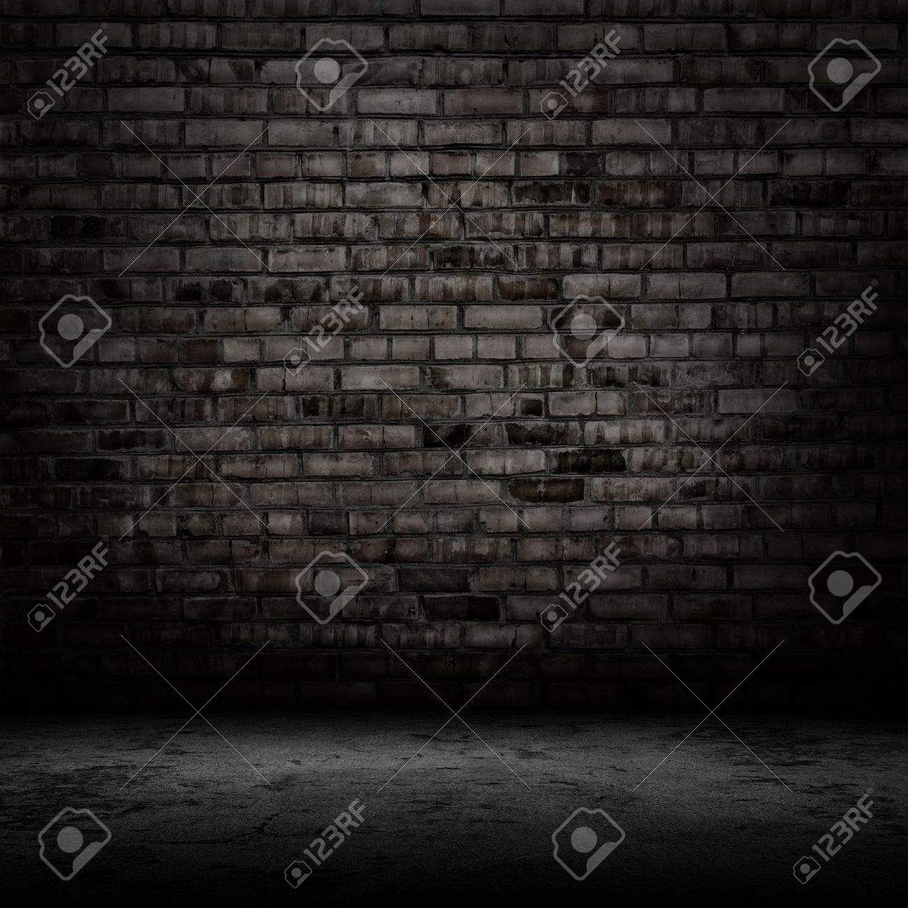 Dark room with tile floor and brick wall background stock photo dark room with tile floor and brick wall background stock photo 35479662 dailygadgetfo Choice Image