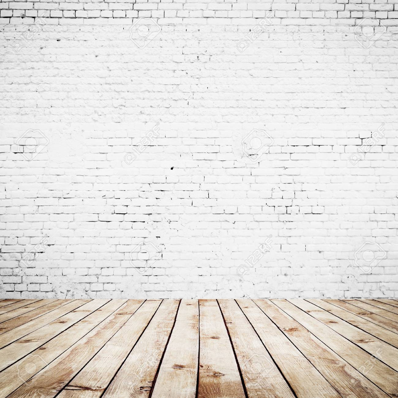 Room Interior Vintage With White Brick Wall And Wood Floor Background Stock Photo Picture And Royalty Free Image Image 35585465