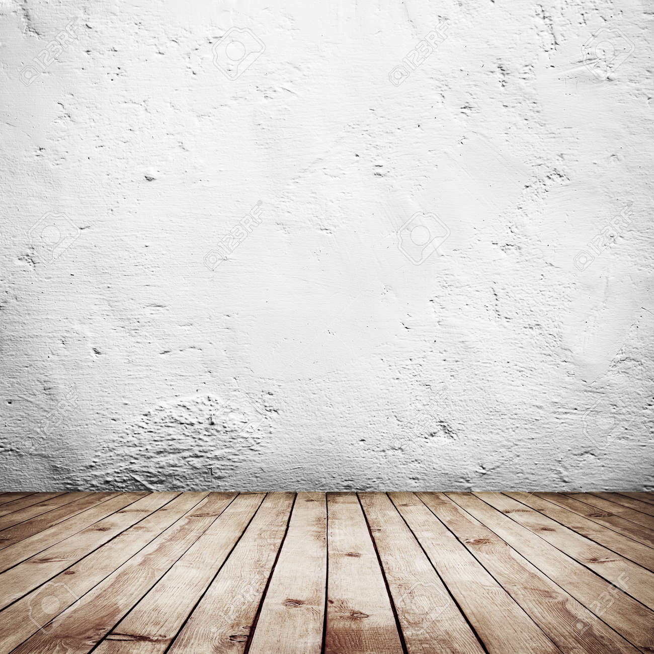Room Interior Vintage With White Brick Wall And Wood Floor Background Stock  Photo   36912123