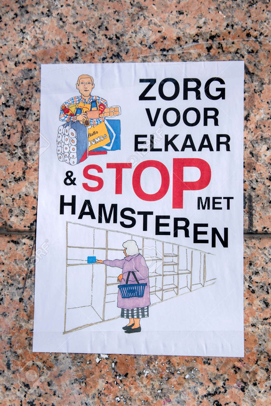 Selfmade Poster During The Coronavirus Outbreak At Amsterdam The Netherlands 2020 - 143146609