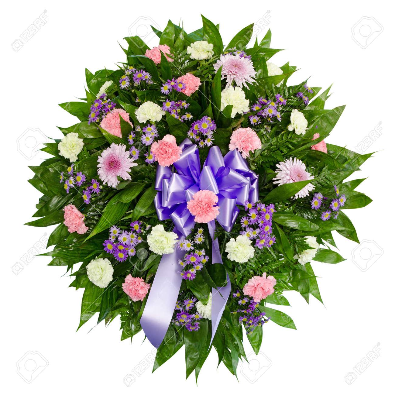 Colorful flower arrangement wreath for funerals isolated on white colorful flower arrangement wreath for funerals isolated on white stock photo 10413691 izmirmasajfo