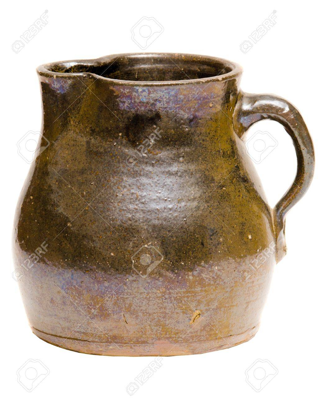Antique Depression-era clay pitcher Stock Photo - 13476184