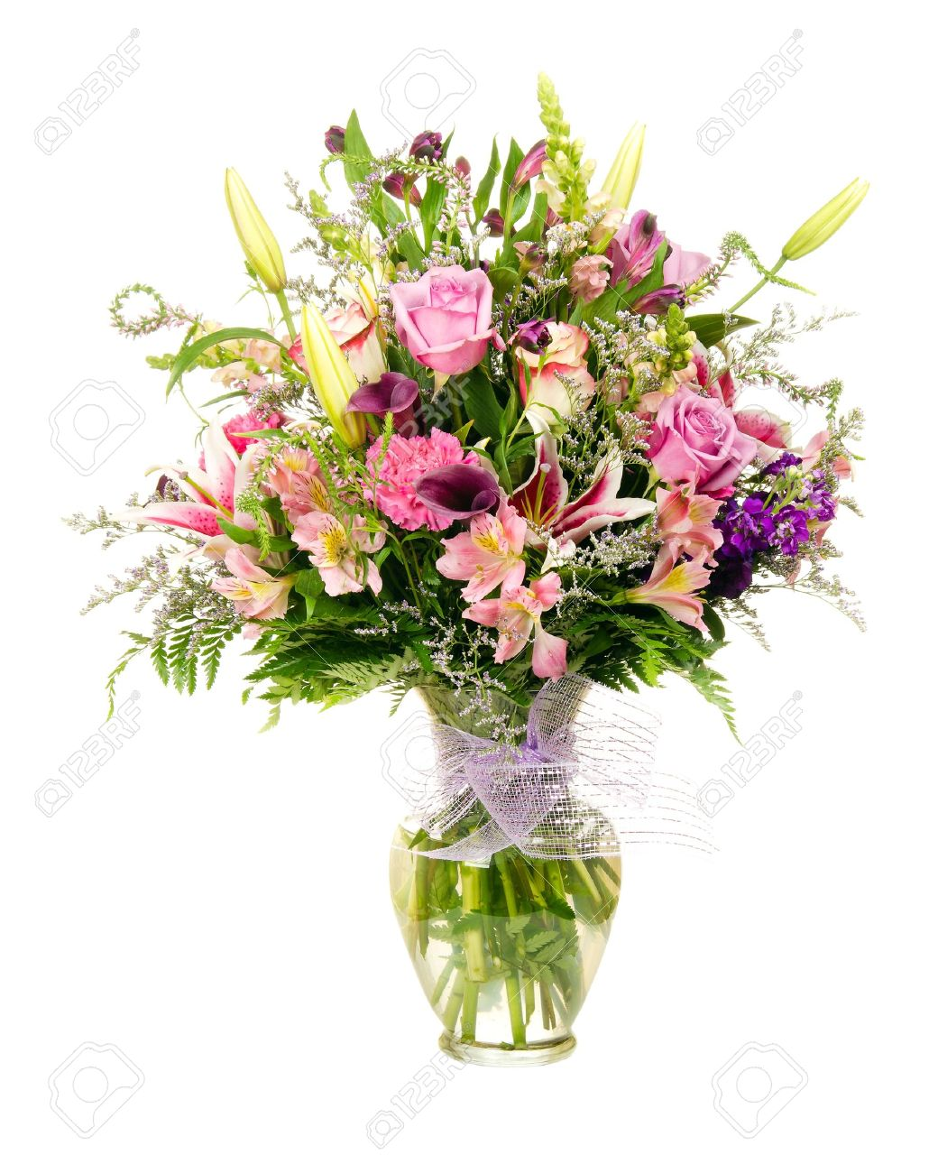 Colorful Florist Made Floral Flower Arrangement Bouquet With Stock