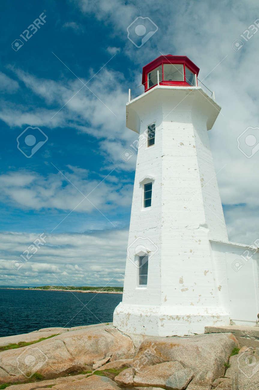 The famous lighthouse at Peggy's Cove, Nova Scotia, Canada Stock Photo - 4227889