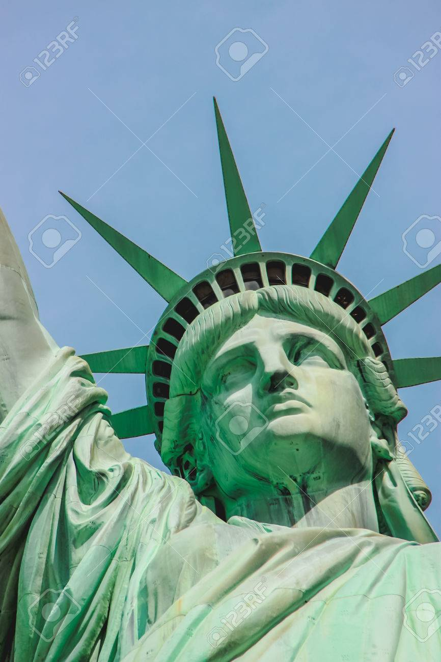 3d3ca70751877 Close Up On The Statue Of Liberty Face Stock Photo, Picture And ...
