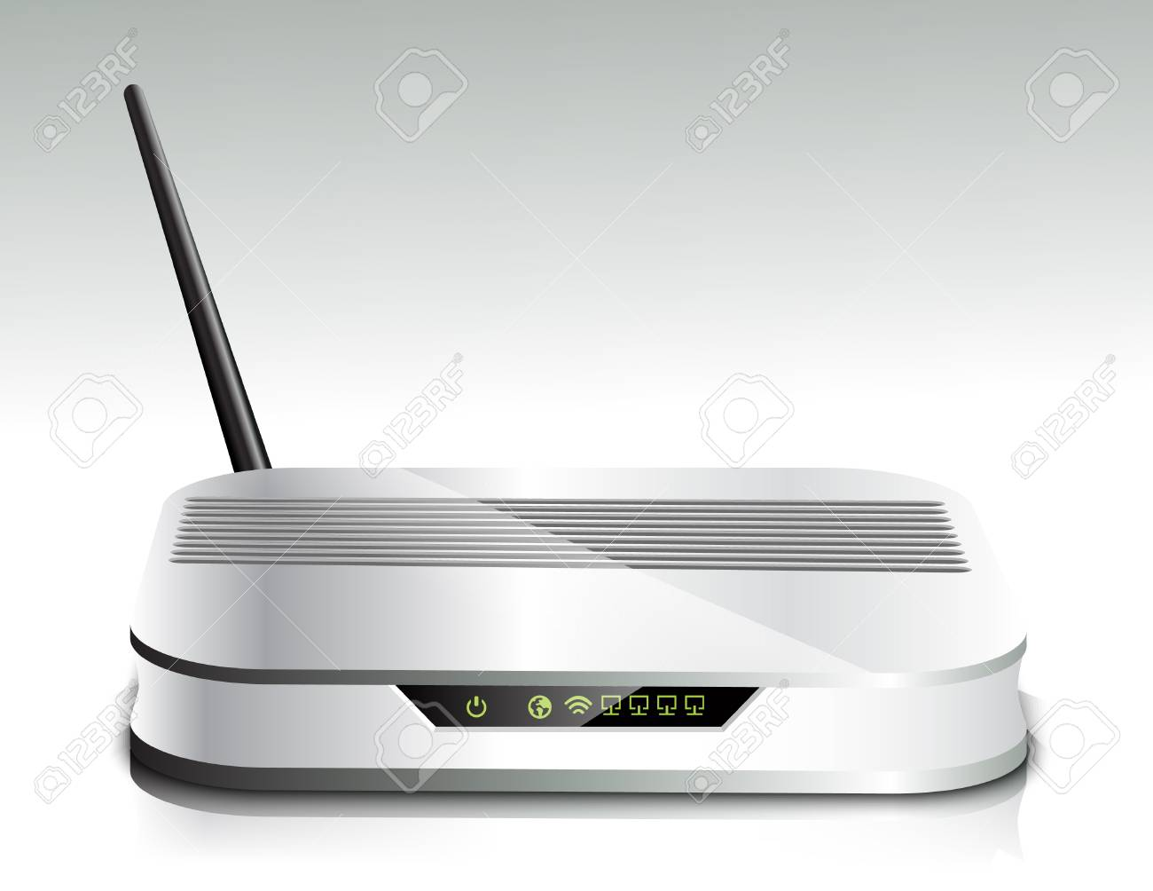 Wireless router Stock Vector - 18929784