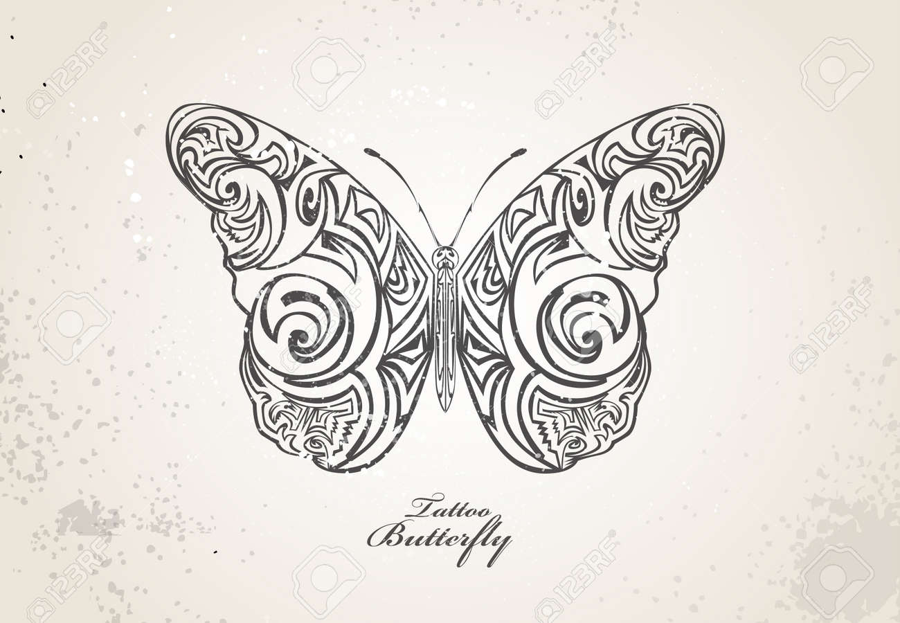Tribal butterfly Stock Vector - 20259227