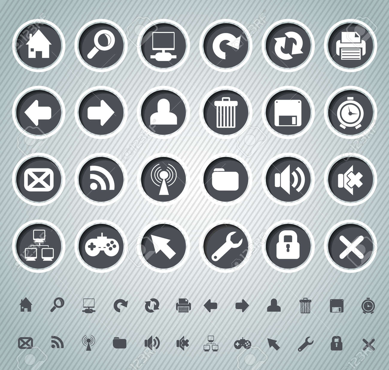 Web icons Stock Vector - 20259370