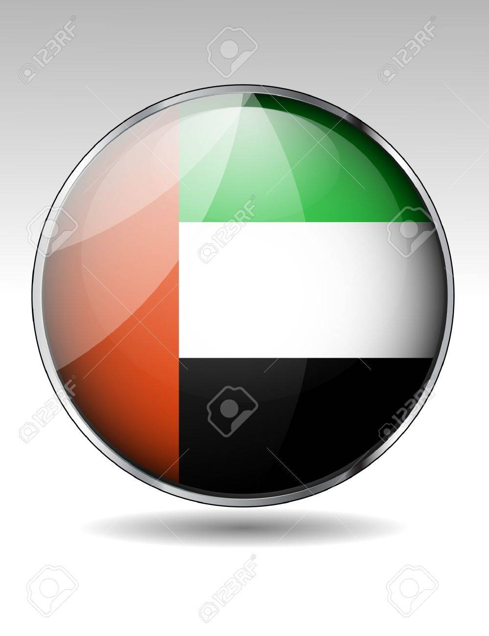 United Arab Emirates flag button Stock Vector - 20259375