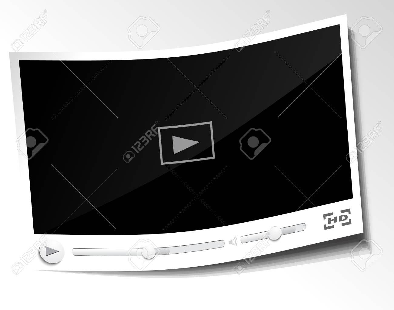 Paper video player Stock Vector - 21059823