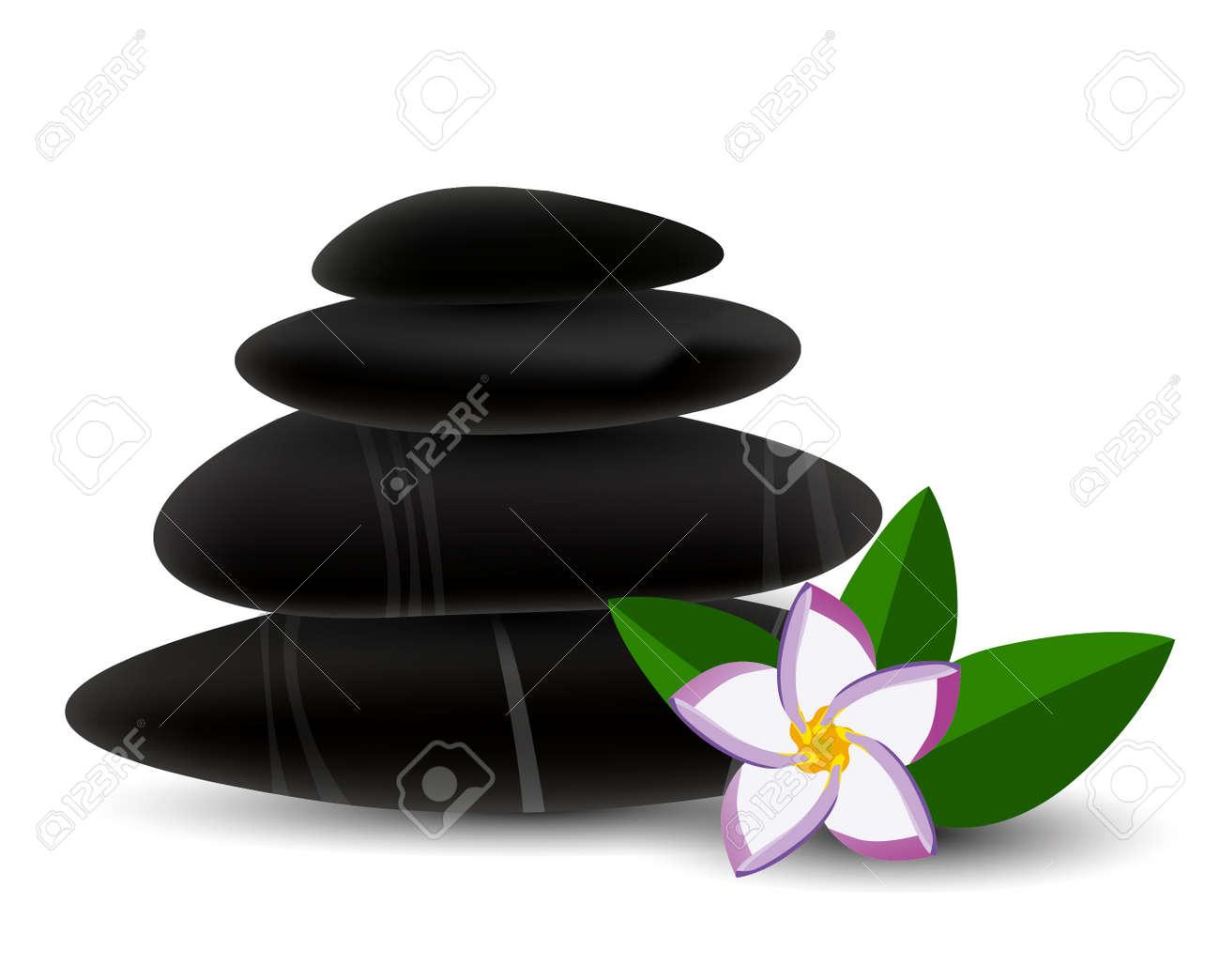 Spa stones and  frangipani flower Stock Vector - 22727522