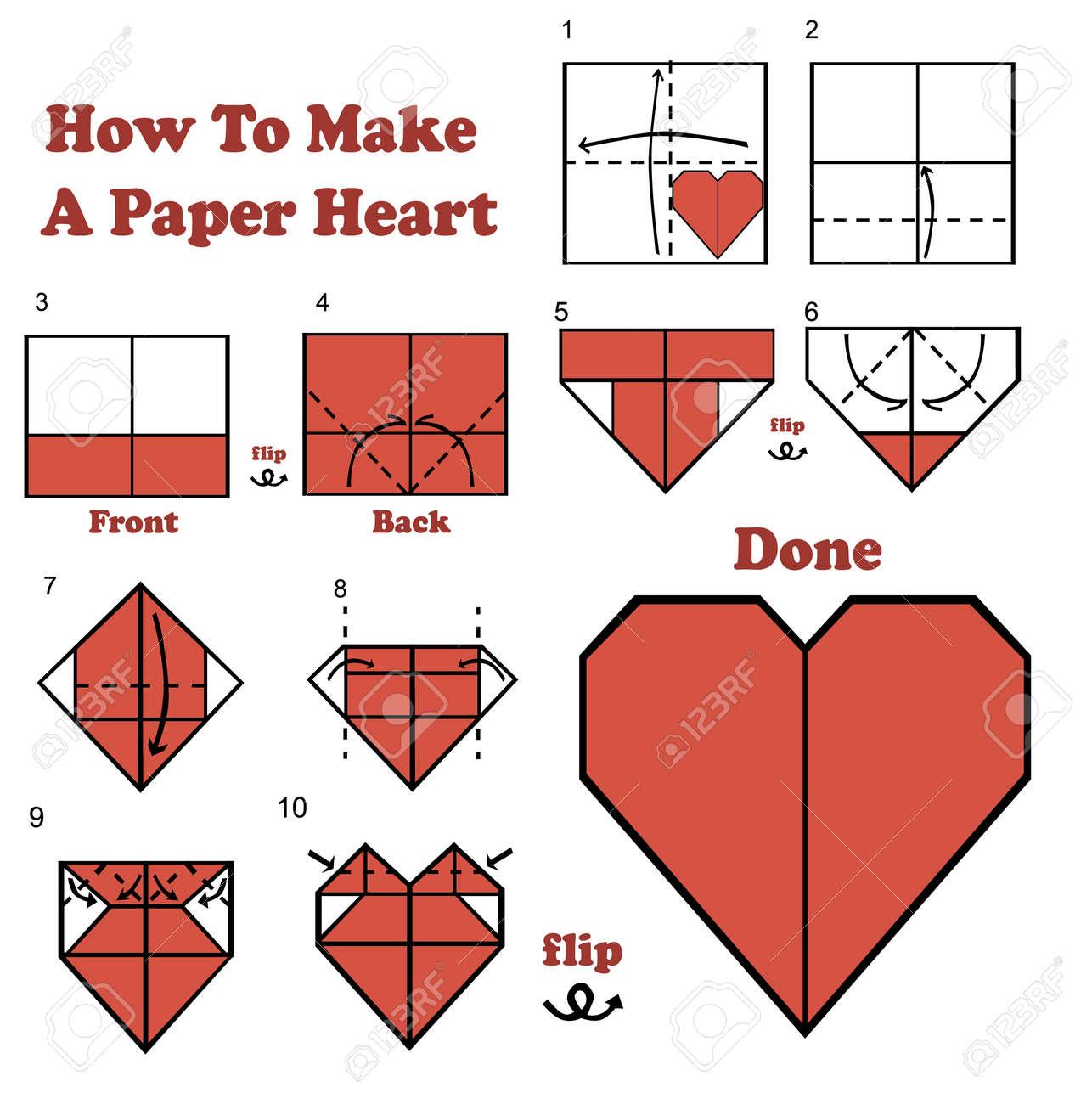 Fabriquer Un Coeur En Papier
