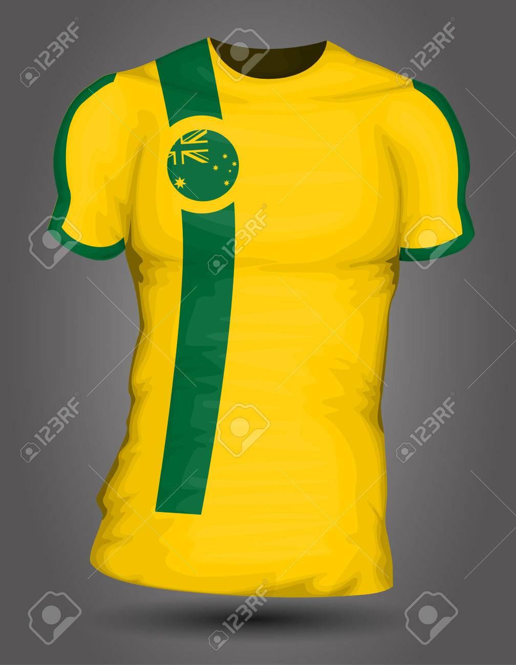 da069e3a3 Australia soccer jersey Stock Vector - 27320375