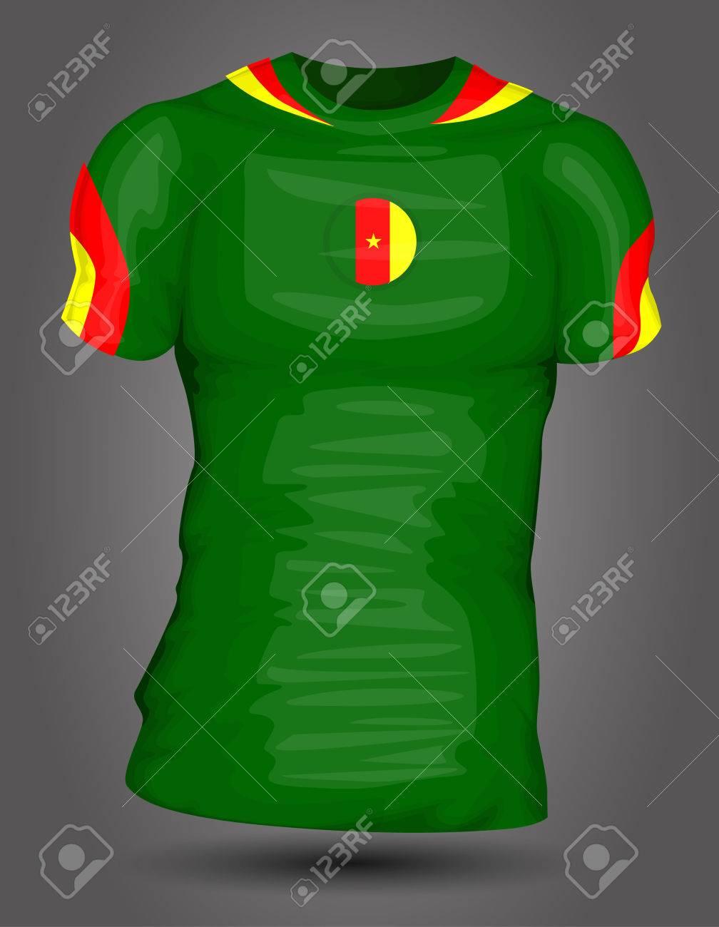 7fa62073a Cameroon soccer jersey Stock Vector - 27320397