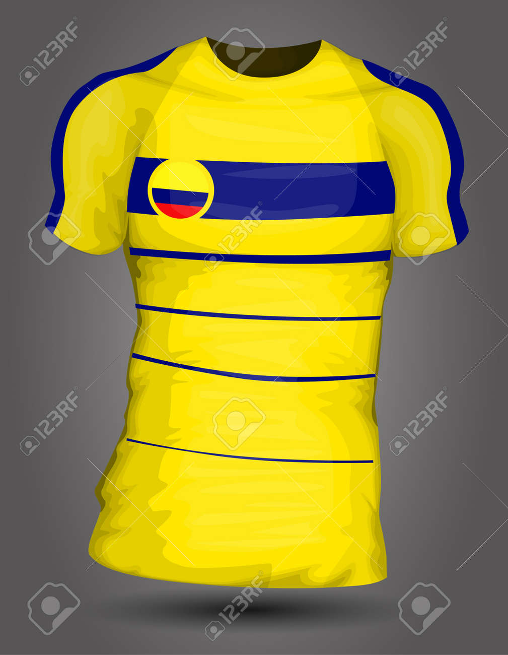 d351a4cbb Colombia soccer jersey Stock Vector - 27320405