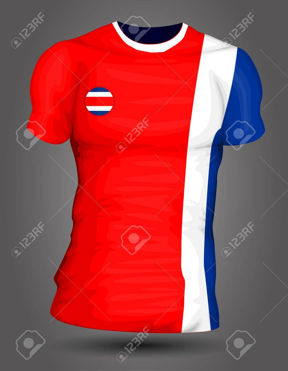 eb9973db9 Costa Rica soccer jersey Stock Vector - 27320408