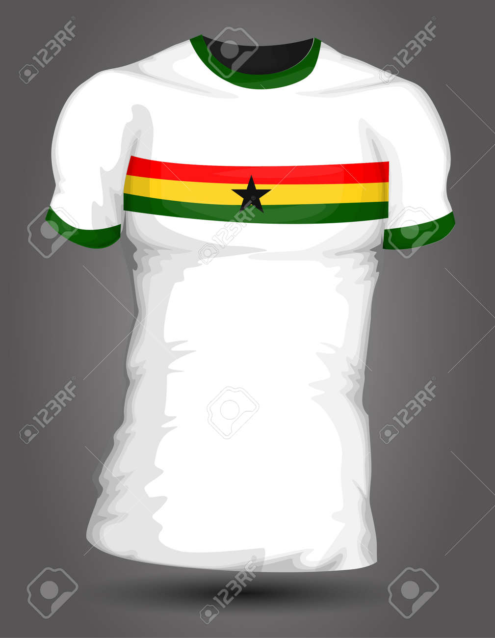 1cb1183cd Ghana soccer jersey Stock Vector - 27320470