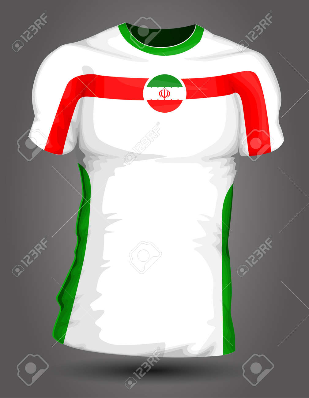 7784f3060 Iran soccer jersey Stock Vector - 27320495