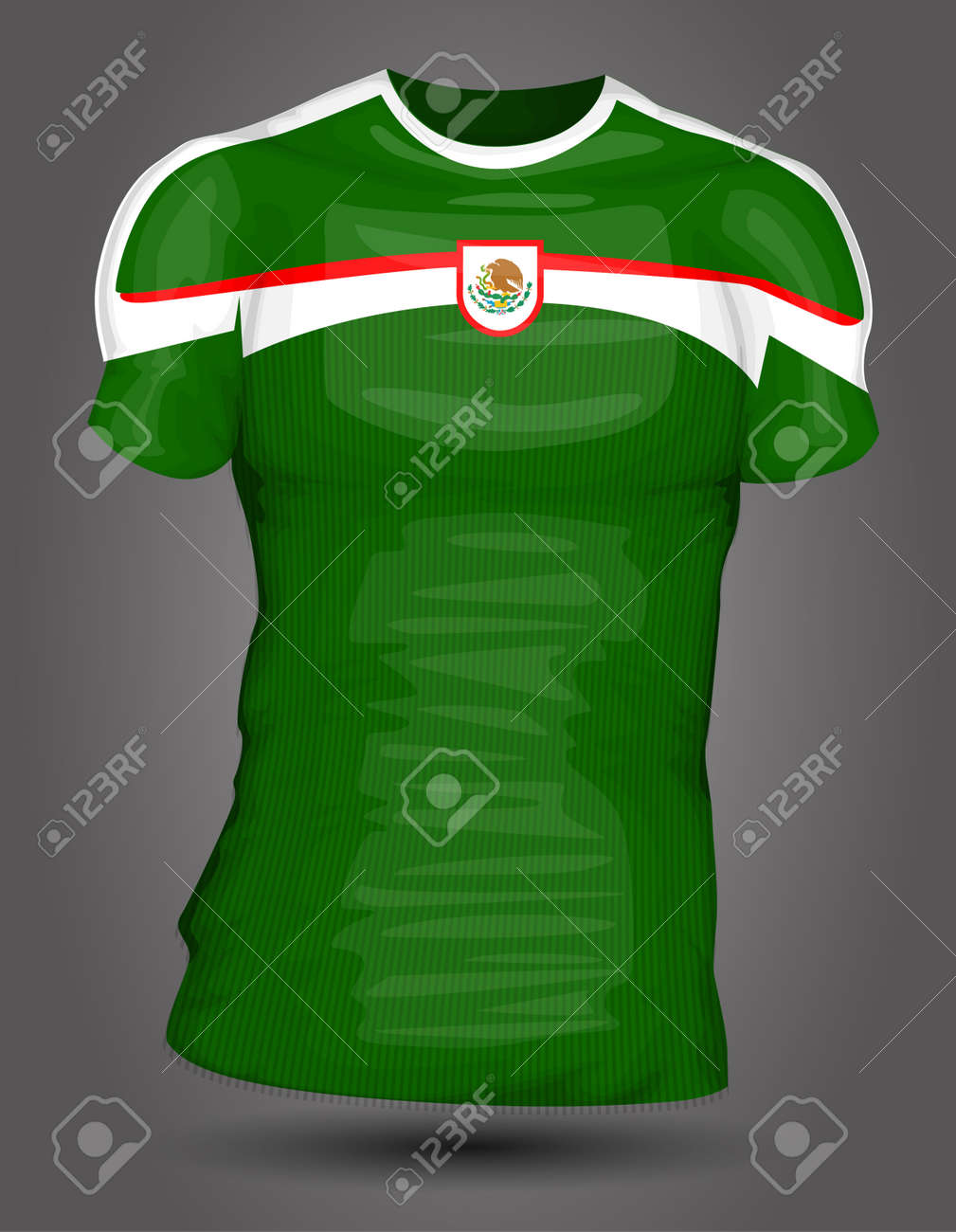 5bff0d54f Mexico soccer jersey Stock Vector - 27320500