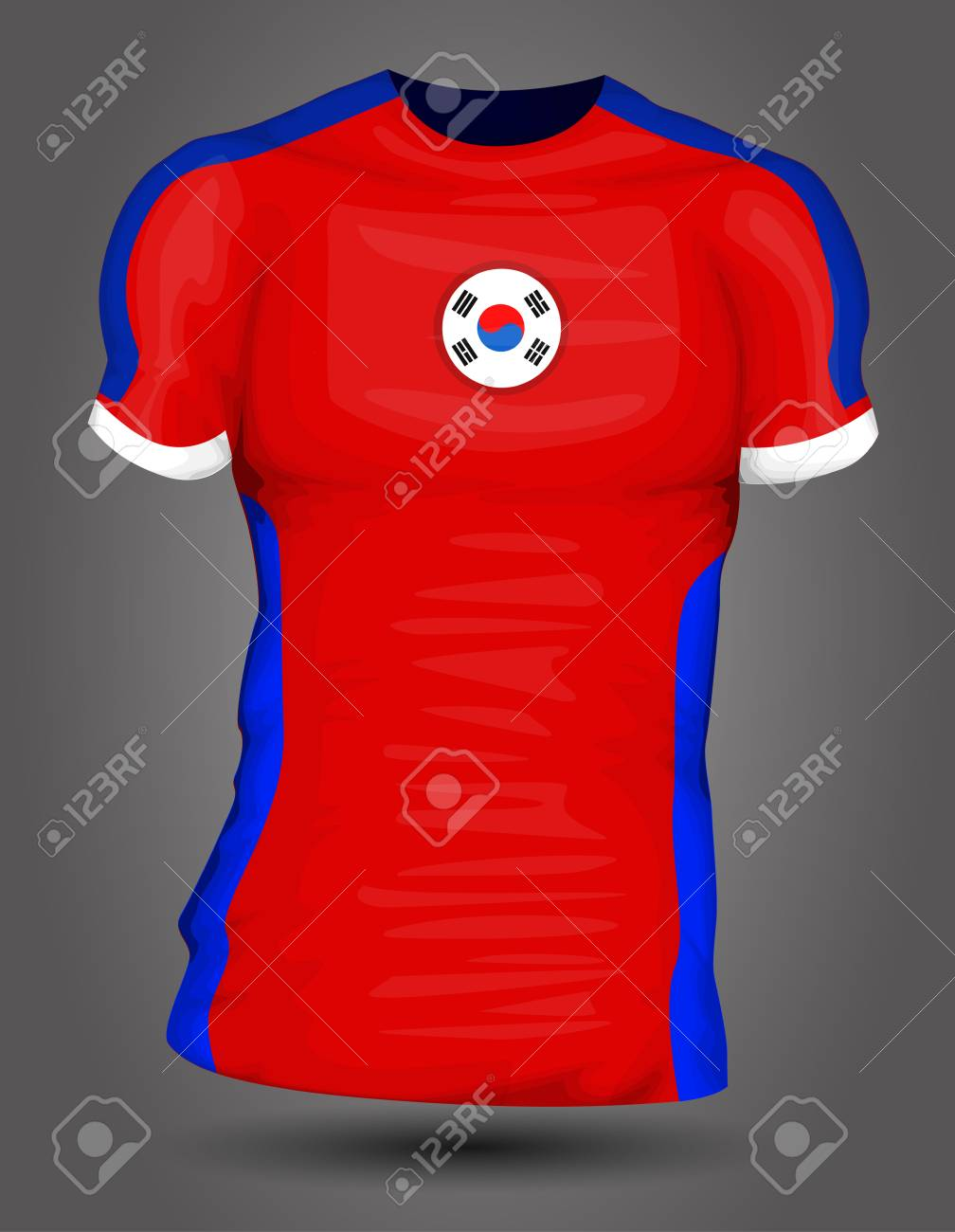 a388ebb44 South Korea Soccer Jersey Royalty Free Cliparts, Vectors, And Stock ...