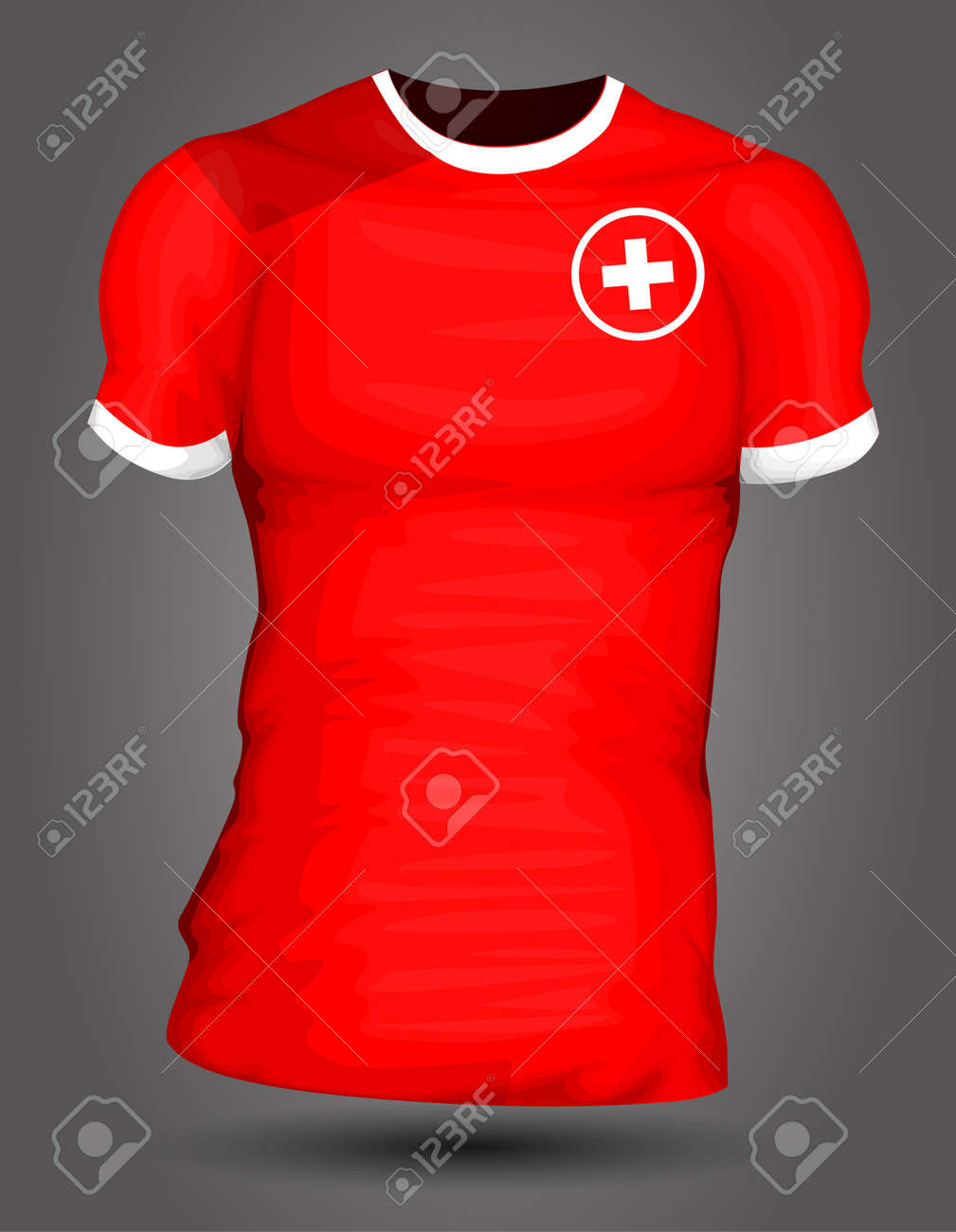 f1f106da3 Switzerland soccer jersey Stock Vector - 27320523