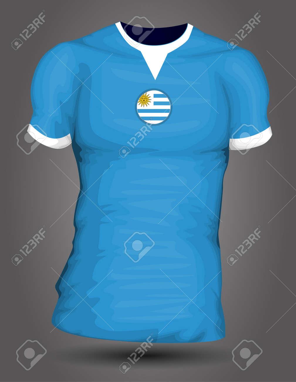817652778 Uruguay soccer jersey Stock Vector - 27320524