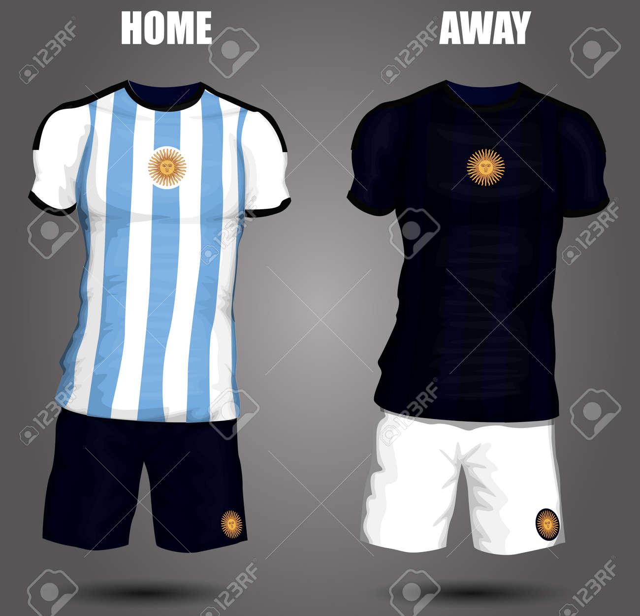 6c7045f12 Argentina soccer jersey Stock Vector - 28036506