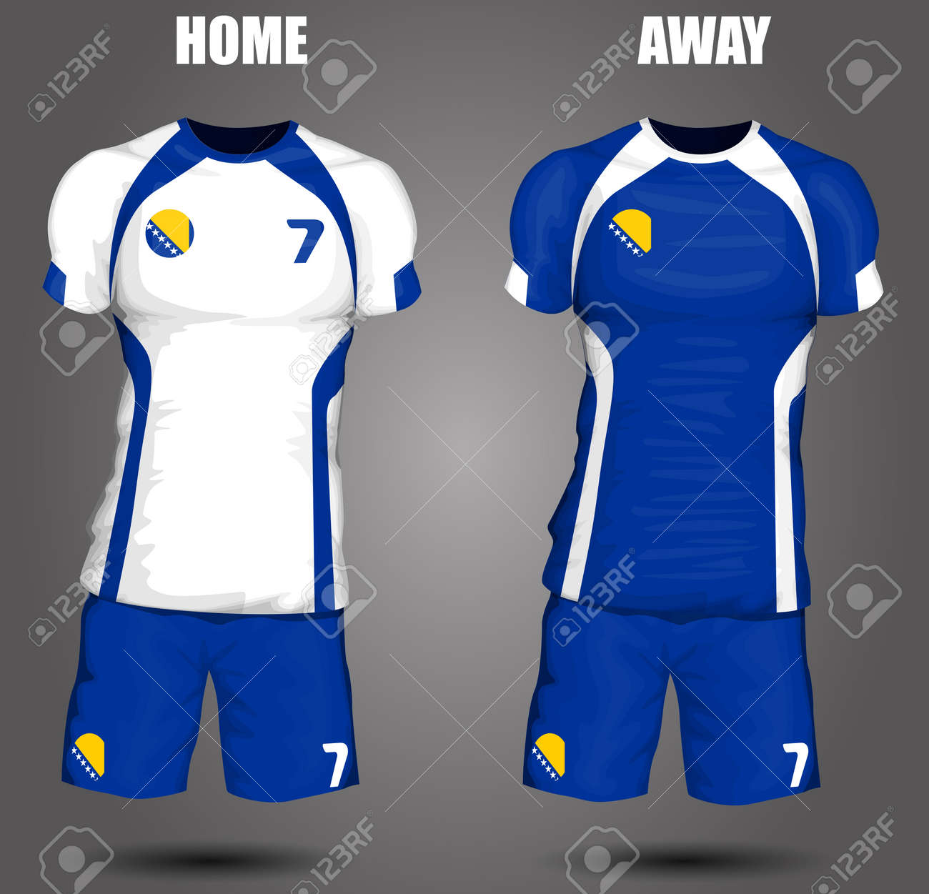 ed0bef26a Bosnia and Herzegovina soccer jersey Stock Vector - 28036507
