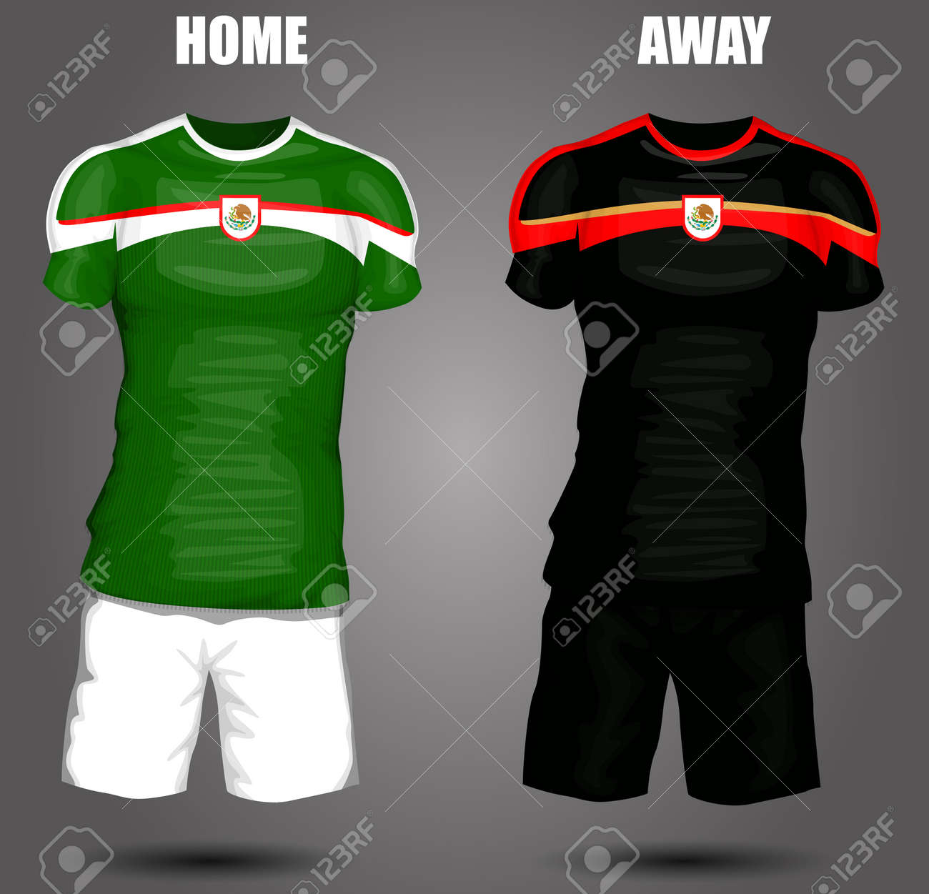 a5ea53c4591 Mexico Soccer Jersey Royalty Free Cliparts, Vectors, And Stock ...