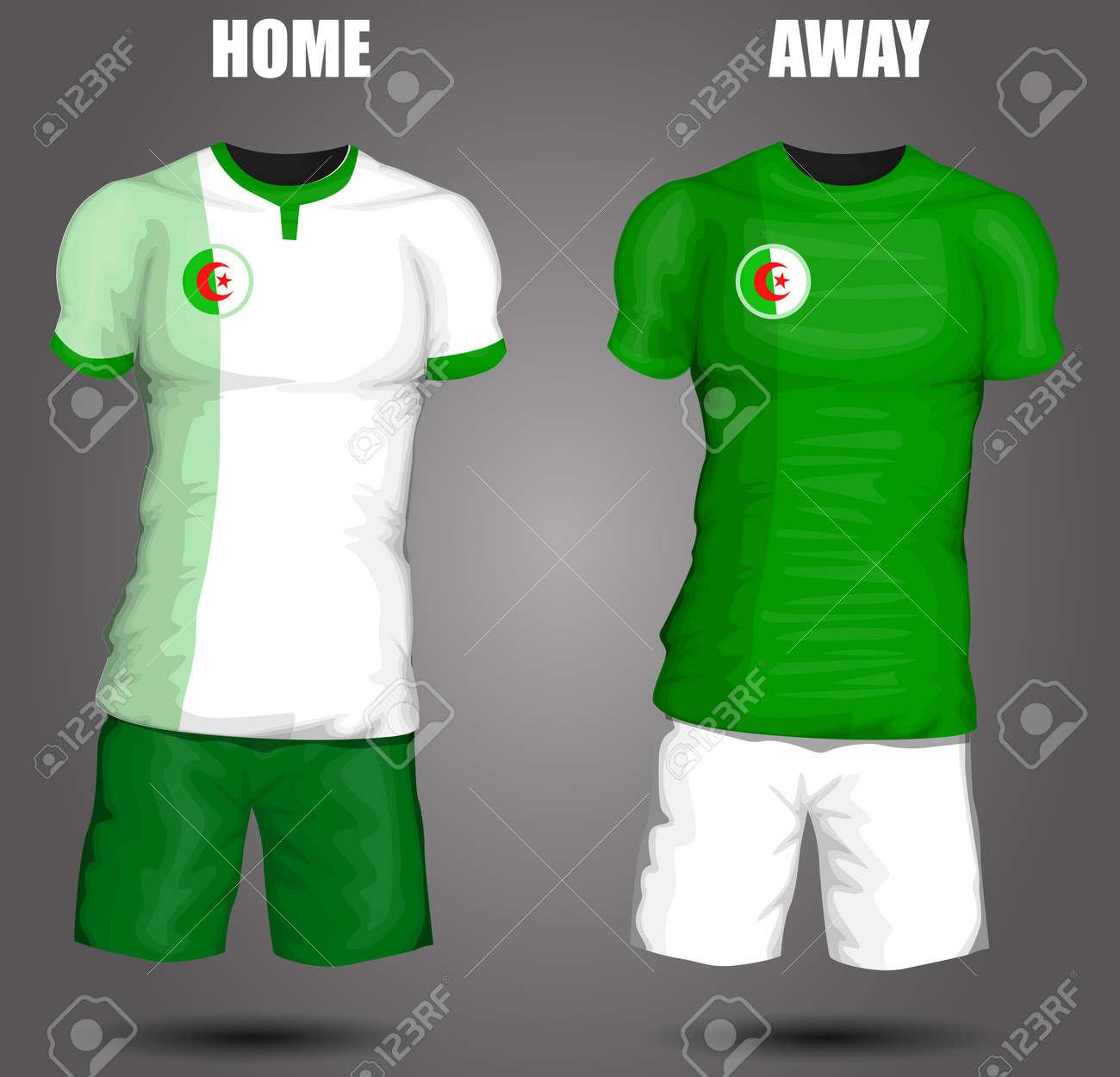 dc393b9af Algeria soccer jersey Stock Vector - 28036520