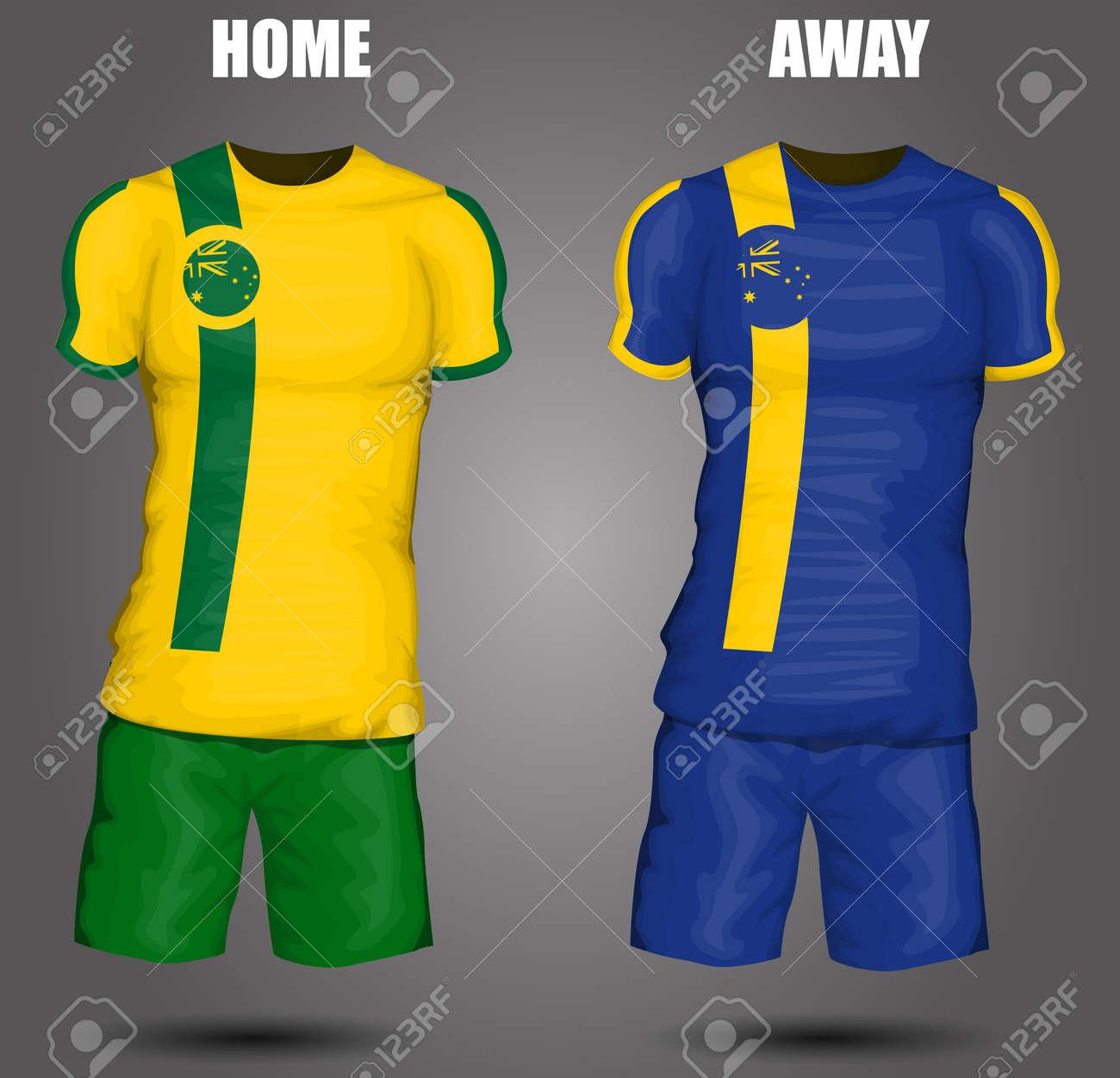 ab6847f45 Australia soccer jersey Stock Vector - 28036521