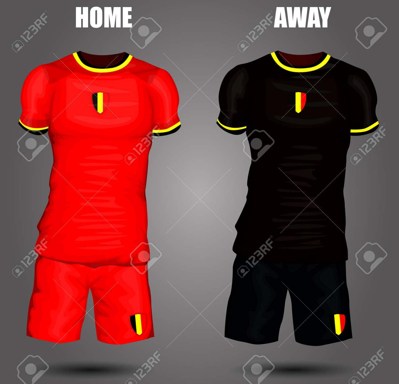 b0444b862 Belgium soccer jersey Stock Vector - 28036596