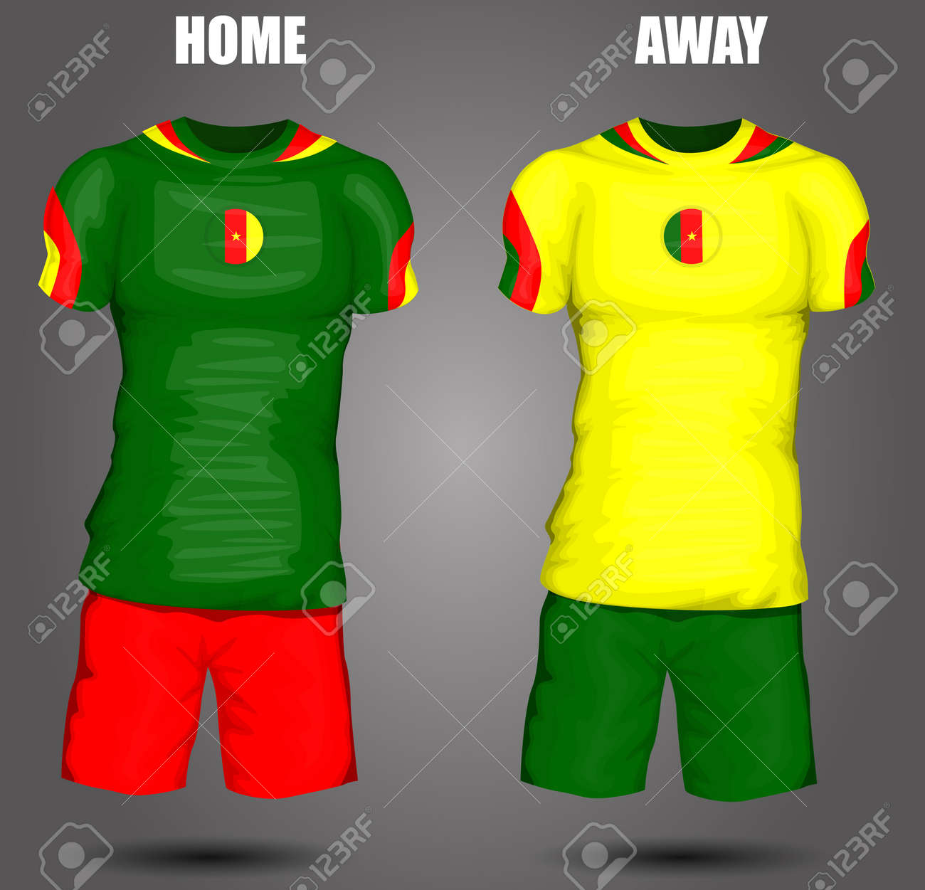e7d1afd50 Cameroon soccer jersey Stock Vector - 28036598