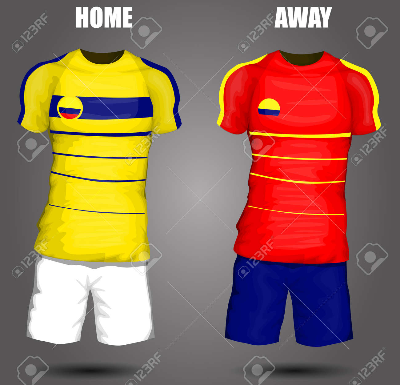 228272d38 Colombia soccer jersey Stock Vector - 28036599