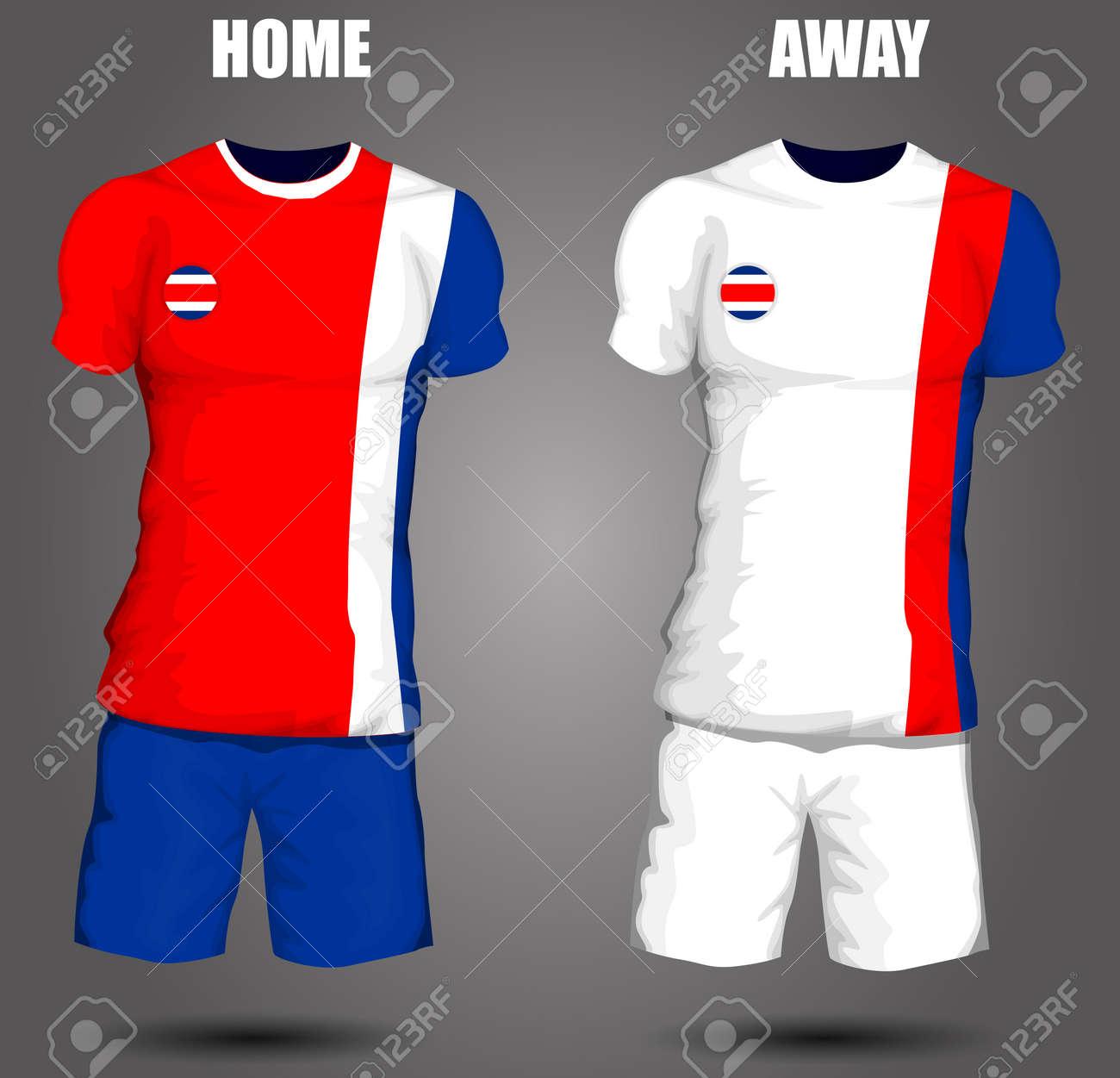 1dc6a17f3 Costa Rica soccer jersey Stock Vector - 28036600