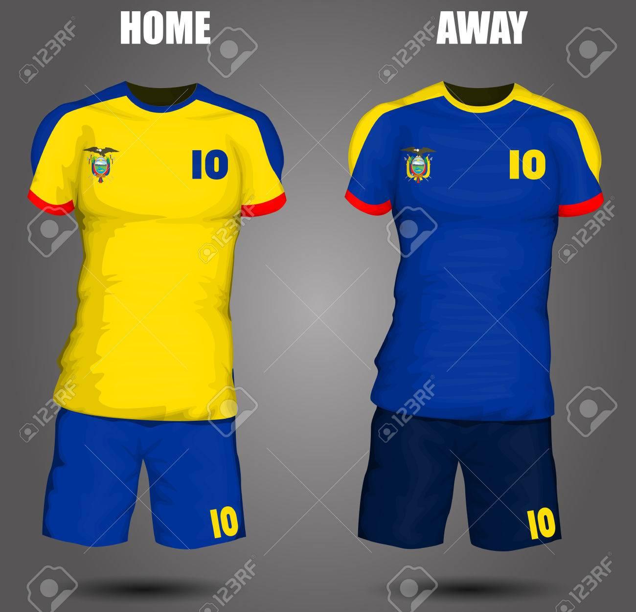 6c2081894fd Ecuador soccer jersey Stock Vector - 28036602