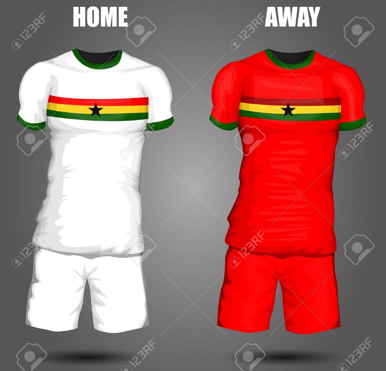 60ecbad6b Ghana soccer jersey Stock Vector - 28036607