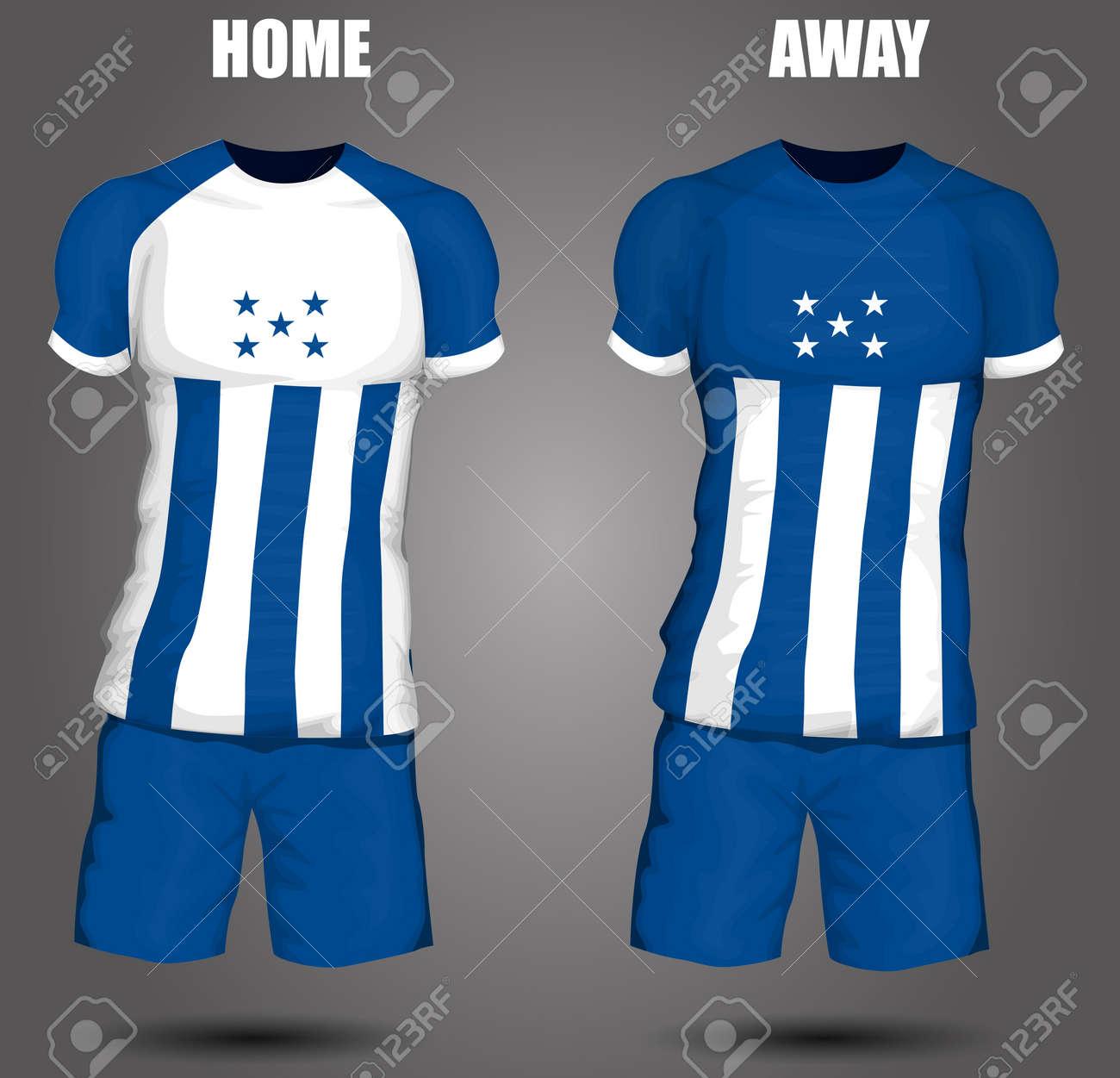 0c5df82b1 Honduras soccer jersey Stock Vector - 28036609